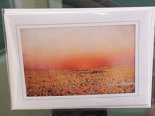 Sunflower Field Blank Greeting Card