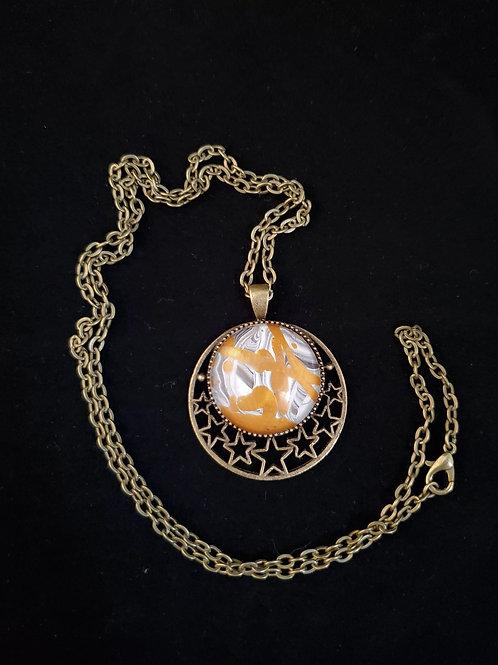 Fluid Acrylic Necklace