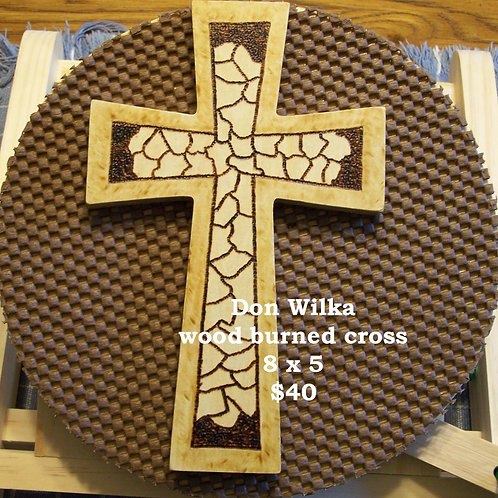Woodburned  Cross
