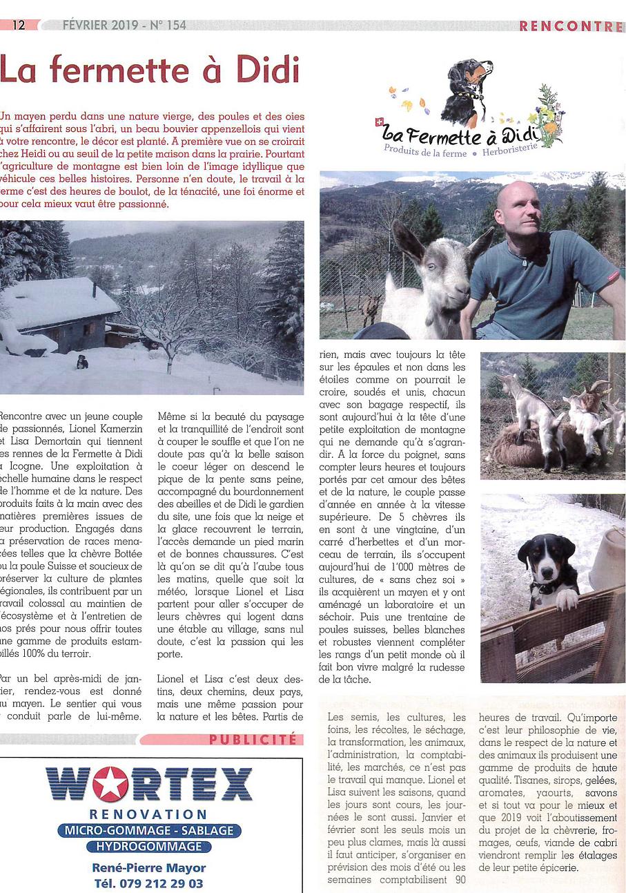 Article Regards Fermette Didi plantes médicinales chèvre bottée valais naturel agriculture douce 2019