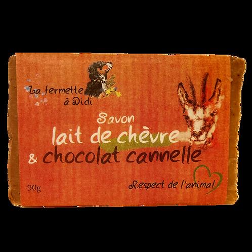Savon au lait de chèvre & chocolat cannelle