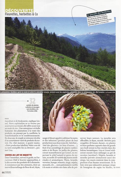 Article Nouvelliste terroir Icogne La Fermette à Didi