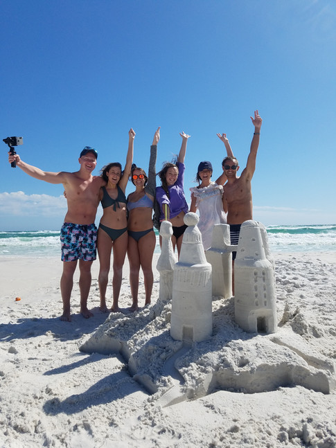Sand castle lesson birthday