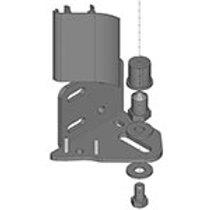 Kit complet gond inférieur à visser pour adaptation cache latéral (non fourni)