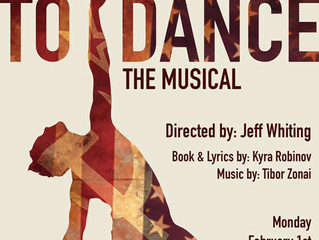 TO DANCE on Monday, February 1st at 7PM at the Baruch Performing Arts Center