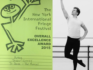 Jesse Carrey wins an Overall Excellence Award for Acting in TO DANCE - The Musical