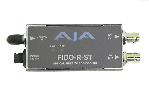 AJA FiDO Single-Channel 3G-SDI to ST Fiber Mini Converter