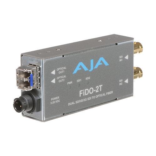 Tarjeta convertidor AJA Fido 2t SDI - Optical fiber