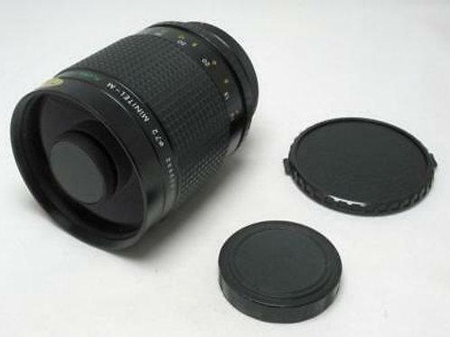 Spiratone Minitel 500mm f/8 mirror lens (T-mount)