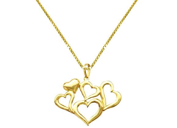 Colar Ouro Amarelo - Coleção Love