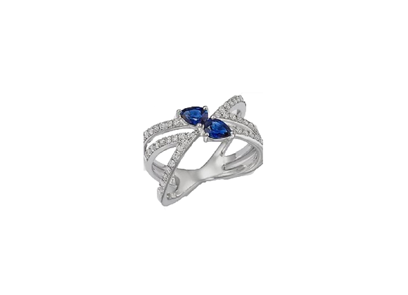 Anel Topázio Azul