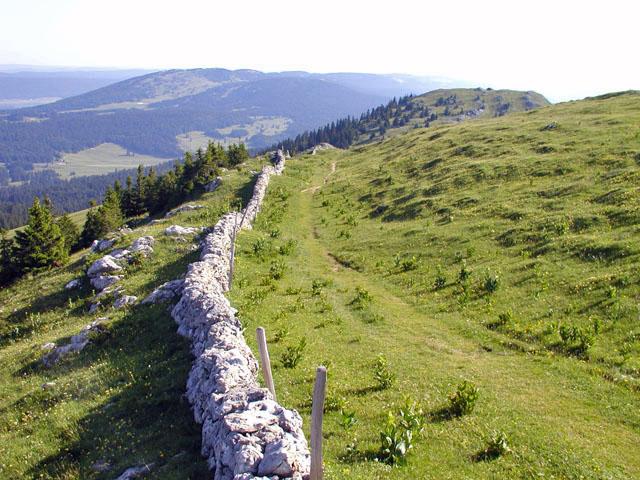 joli chemin de crête en Jura Suisse