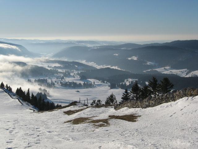 Neige sur les hauteurs du Jura