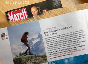 Paris Match parle de mes stages