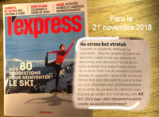 L'EXPRESS aime mes stages...