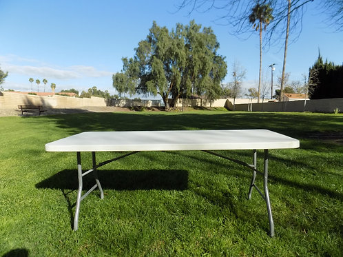 Plastic White 8ft Table