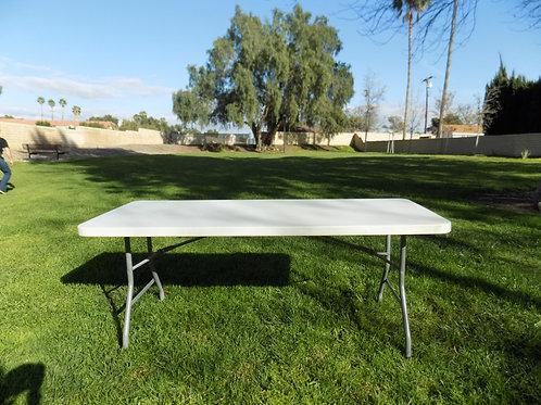 Plastic White 6ft Table