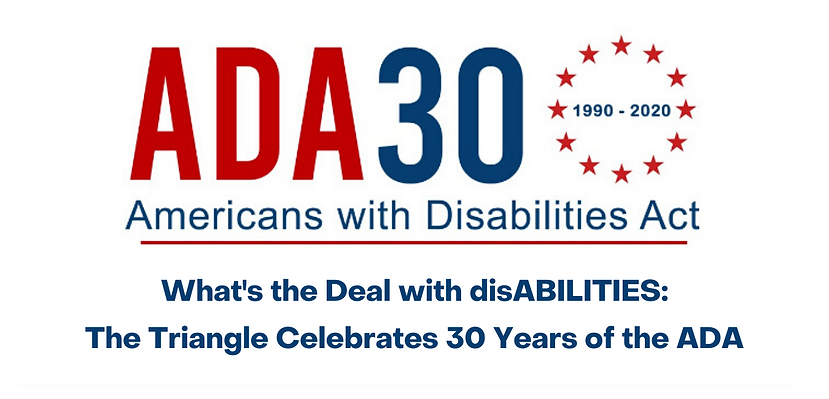 Website banner thats states ADA 30th Anniversary