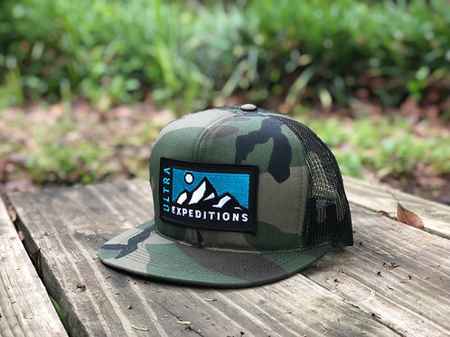 Ultra Expeditions Trucker Hat -Woodland Camo