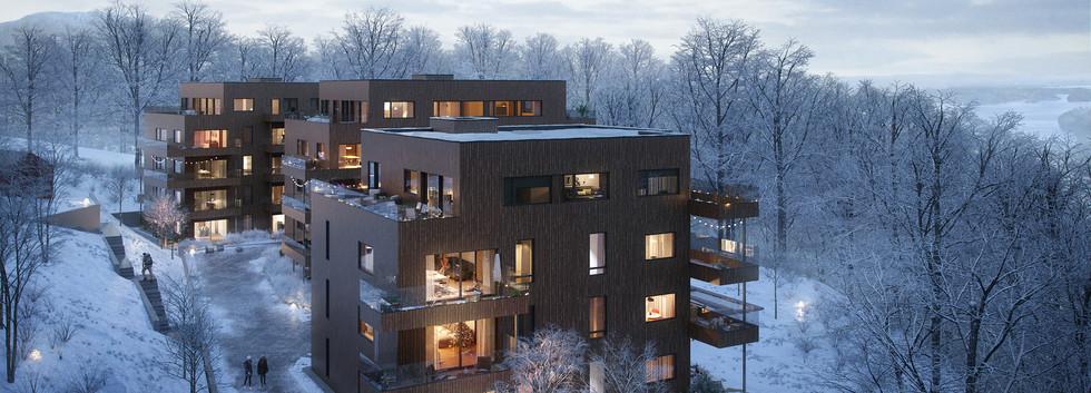 Nedre Bleiker Gård, vinter