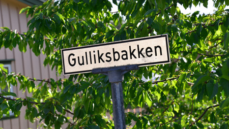 Gulliksbakken i gamle Drøbak