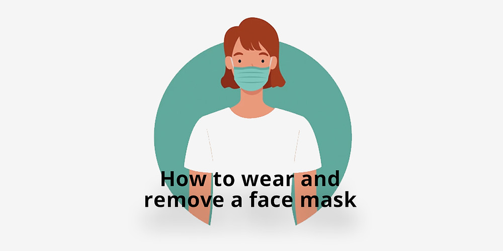 How to wear and remove a face mask