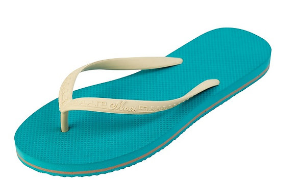 TONG SOLIDS FEMME    WHITE TURQUOISE