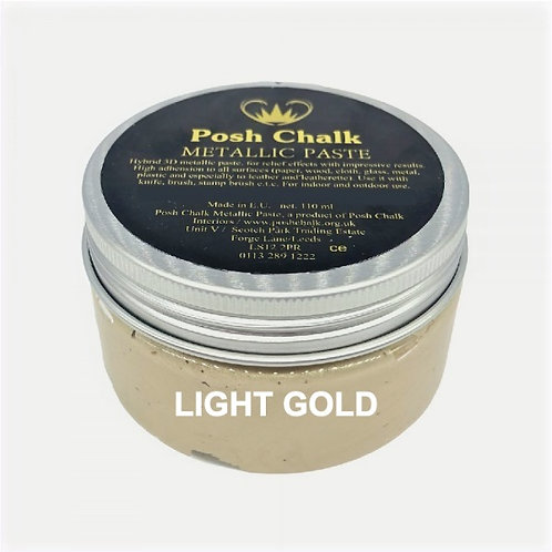 Woodubend's Posh Chalk Metallic Paste color: Light Gold