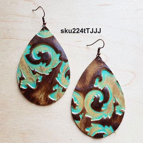 LeatherTeardrop Earrings