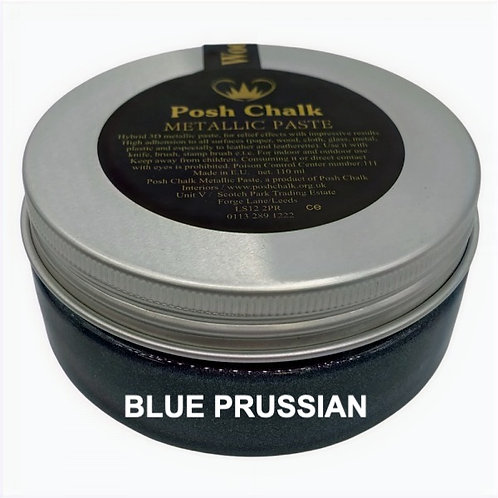 Woodubend's Posh Chalk Metallic Pastes color: blue prussian