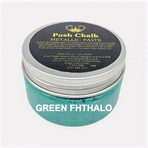 Woodubend's Posh Metallic Pastes  Color: Green Fhthalo