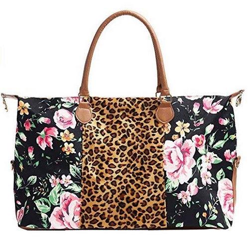 Floral Cheetah  Weekender Bag