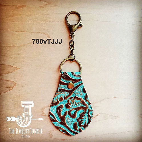 Embossed Leather Key Chain