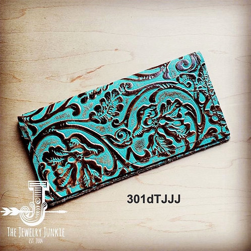 Boho Style Embossed Leather Wallet
