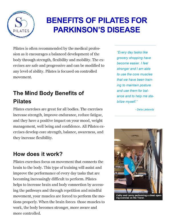 Parkinson's Disease client in class