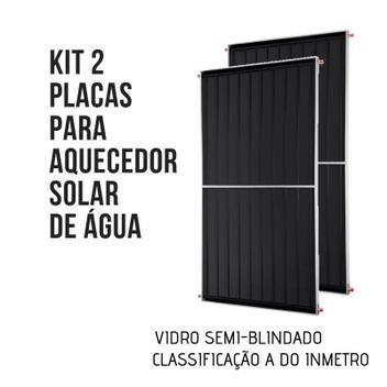 Kit 02 Placas para Aquecedor Solar Semi-Blindada 1,70X1,00 m Vertical Inmetro A
