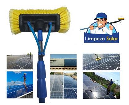 Equip. c/ Escova Saída de Água Ajustável 2,8m a 9m para Limpeza de Painel Solar