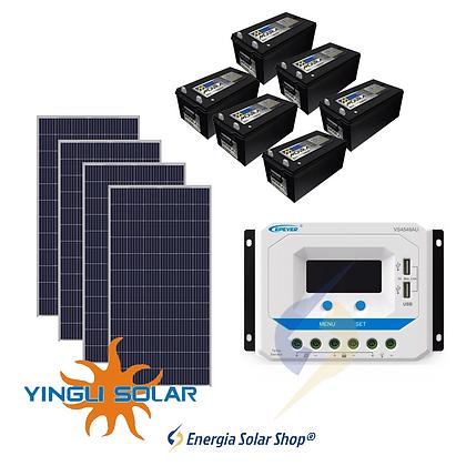 Kit Solar Fotovoltaico 1300Wp - até 4222Wh/dia