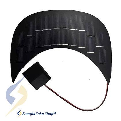 Painel Solar Fotovoltaico Para Aba Boné USB Carregar Celular