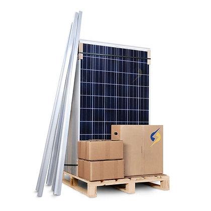 Kit Solar Potência 4.0 kWp 600 kWh por Mês Trifásico Microinversor Completo