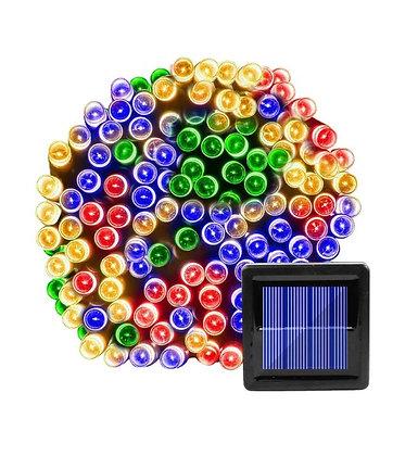 Pisca Pisca Solar Multicor 7M / 12M / 22M 100 LED Energia Decorativa