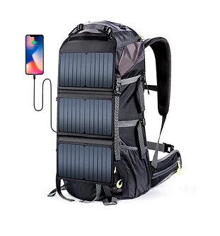Mochila Cargueira Solar 20W 6v Grande Capacidade 68 Litros