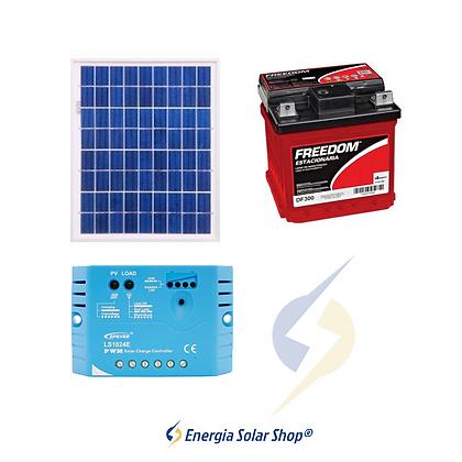 Kit Solar Fotovoltaico 10Wp - até 32 Wh/dia