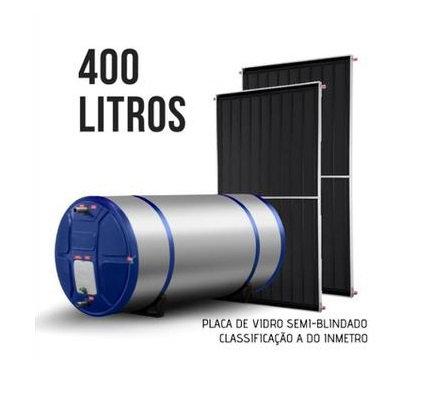 Reduza sua Conta de Energia, Aquecedor Solar 400 Lts + 02 Placas, Semi-Blindado