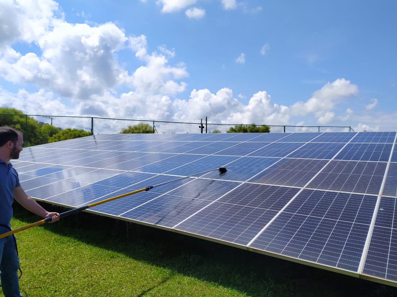 limpeza de painel solar sc limpeza  sola