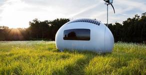Casa compacta que produz energia elétrica e água potável está sendo vendida por US$ 90 mil