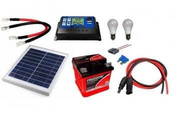 Kit Energia Solar Fotovoltaica 10Wp Gera até 32Wh/dia