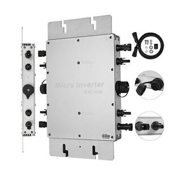 Microinversor de Potência 1200W IP65 Solar Micro Grid Tie Inversor Inverter