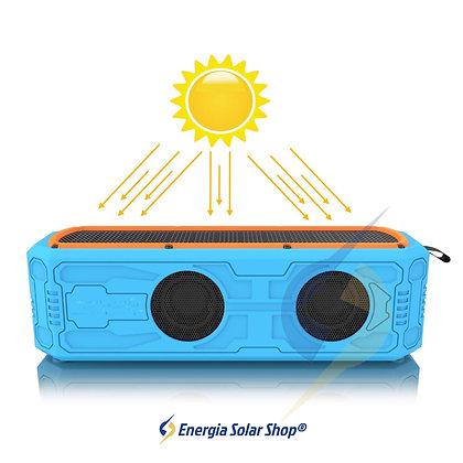 Caixa de Som Solar Bluetooth à prova d água portátil 4400 mah