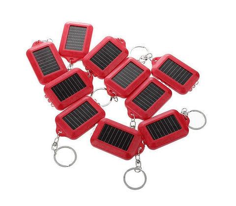 10 Unidades Mini Chaveiro Solar Lanterna Energia Solar Recarregável
